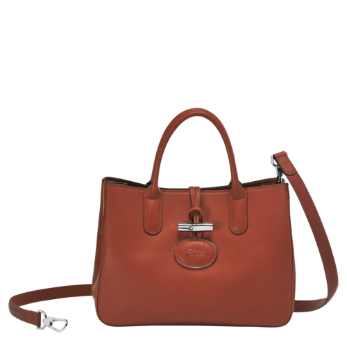 Longchamp Tan Color Roseau Heritage Crossbody with Removable Strap Bag.